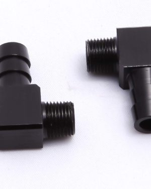 1 Thrust innovations 3/8 Black Anodized Fitting 90'