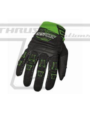 Jetpilot Full Finger Glove Green