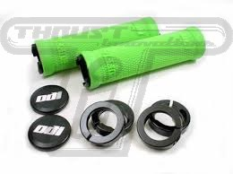 ODI Ruffian grips Green/w black clamps