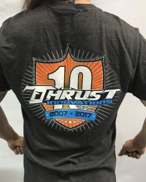 Thrust 10 yr anniversary T shirt